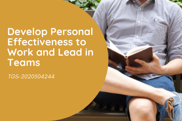 Develop Personal Effectiveness to Work and Lead in Teams