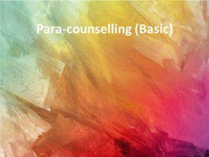 para-cpunselling basic